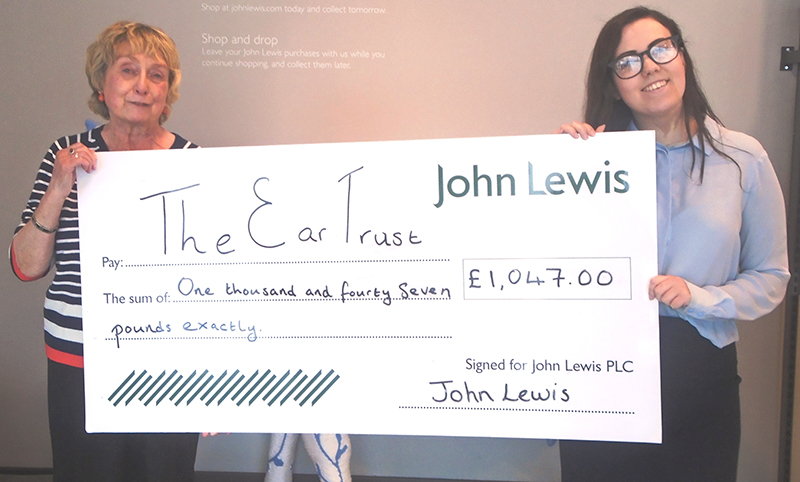 Retailer John Lewis Support the Ear Trust